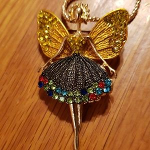 New Beautiful Colorful Gold Fairy Pixie Necklace